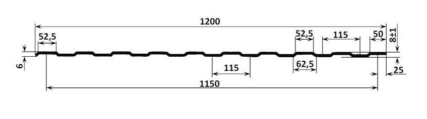 Схема профиля С8