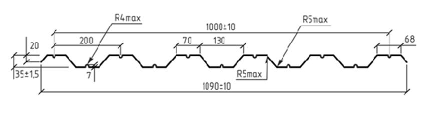 Схема профиля HС35