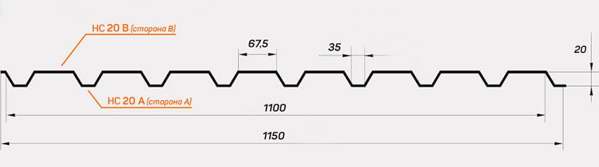 Схема профиля С10